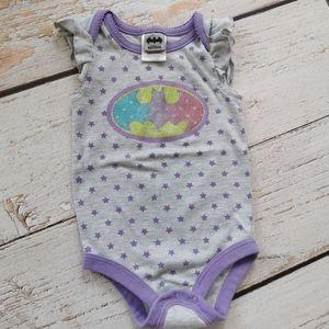 Baby Girl Flutter Sleeve  Batman Onesie